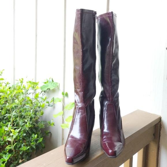 786889e4ad2 Franco Sarto Shoes - Franco Sarto Burgundy Tall Fare Heeled Boots 10M